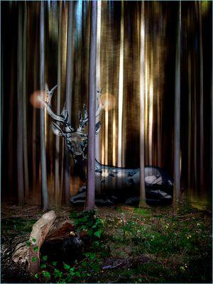 Ein gläserner Hirsch