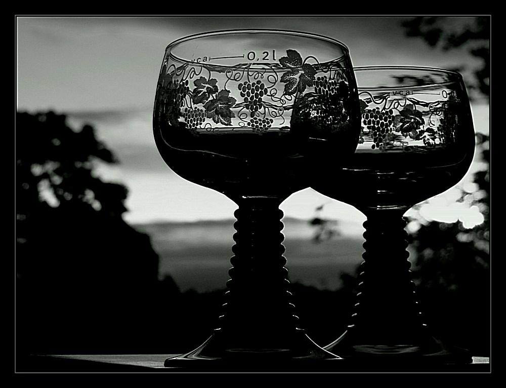Ein Glas trockener roter soll ja gesund sein...