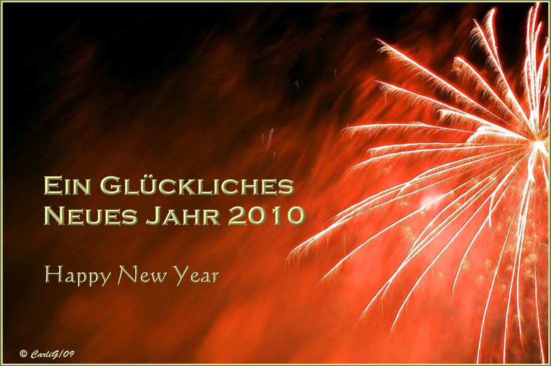 Ein glückliches neues Jahr 2010