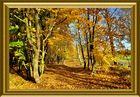 Ein goldener Herbst braucht einen goldenen Rahmen.....