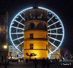 Ein Gruß zum Advent aus Düsseldorf vom Schloßturm am Rhein