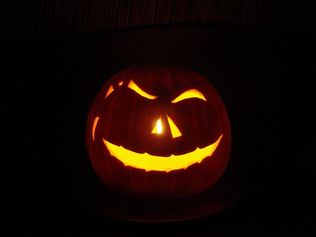 Ein Halloween Kürbis