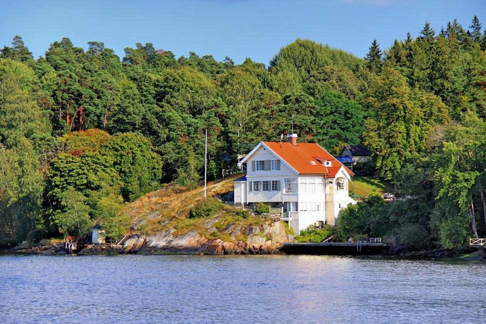 Ein Haus am Meer Foto & Bild