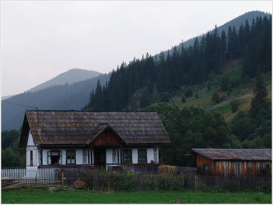 Ein Haus in den Waldkarpaten