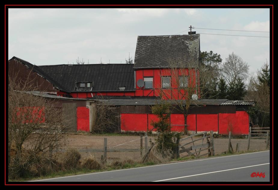 Ein Haus in Rot...