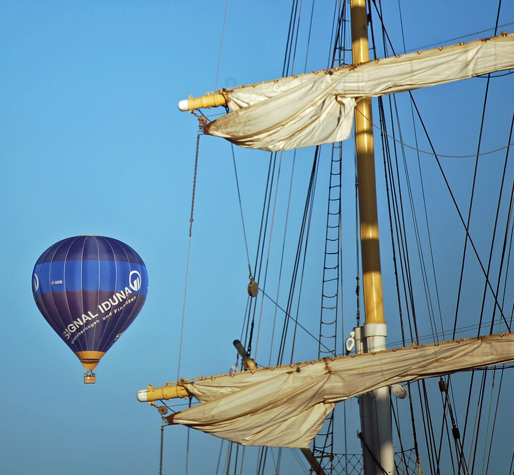 ein Heissluftballon