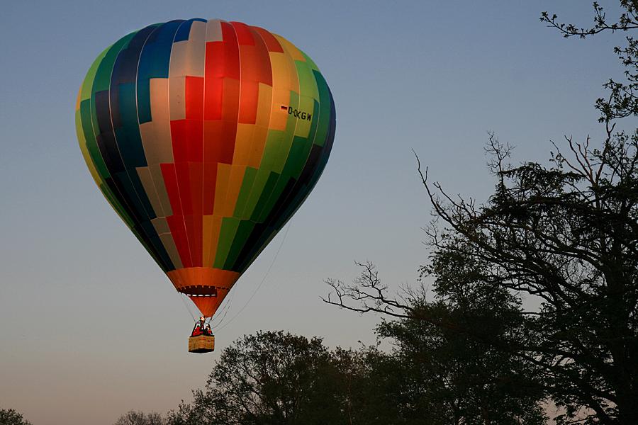 Ein Heißluftballon ....