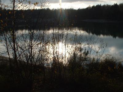 Ein Herbst See