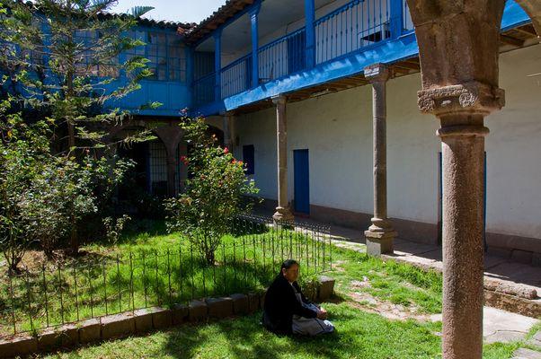 Ein Hinterhof in Cuzco