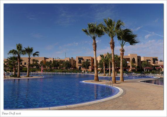 Ein Hotel bei Marrakesch