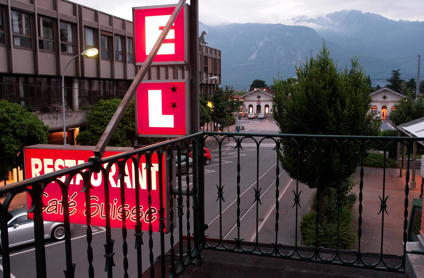 ein Hotel mit eigener Bahnlinie