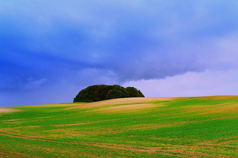 Ein Hügel wird zur Kulisse.....