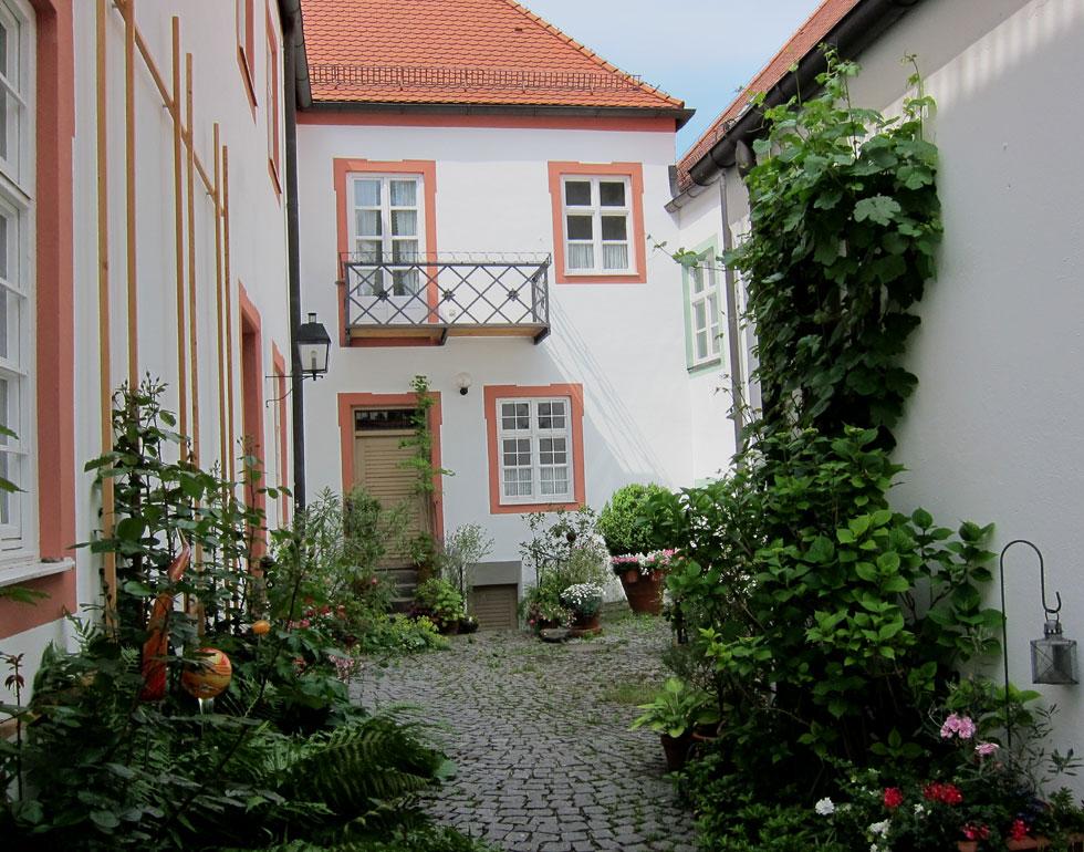 Ein Innenhof in Freising