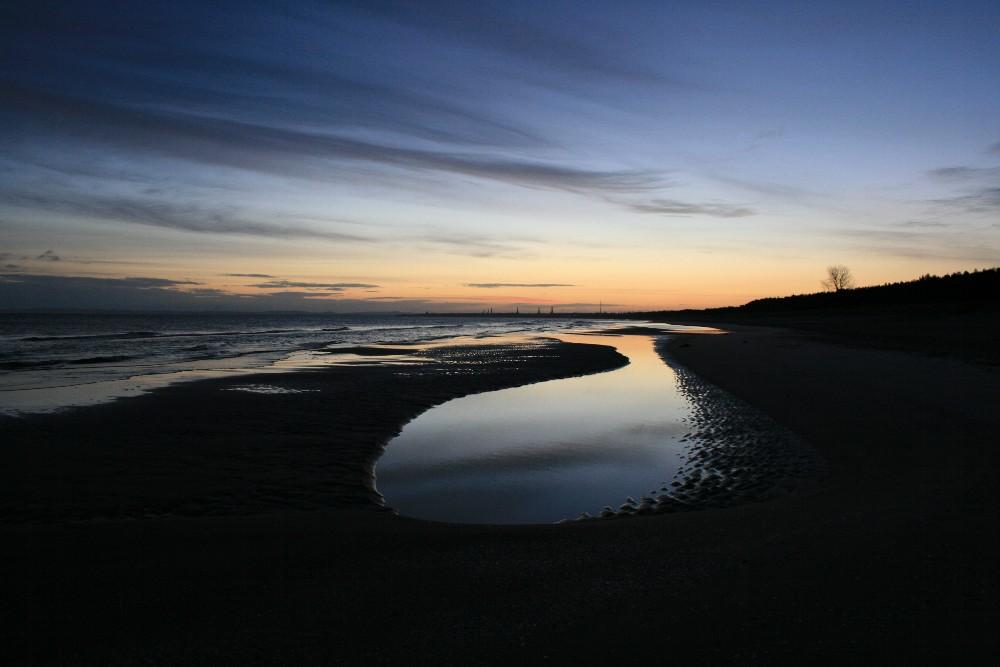 Ein Januarmorgen an der Ostsee