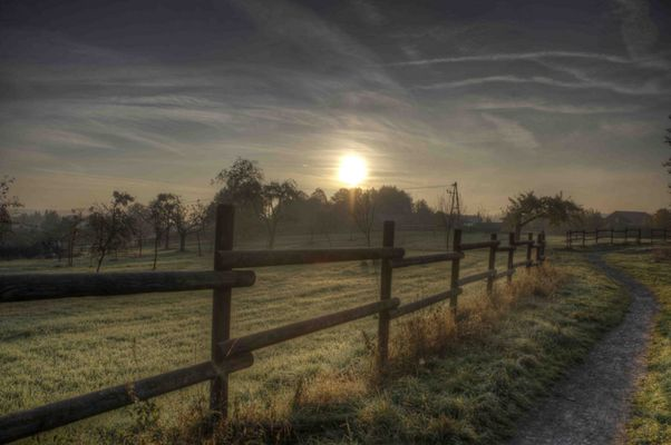 Ein kalter Morgen in Backnang