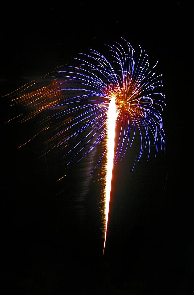 Ein kleines Feuerwerk gab es auch anläßlich des Hafenfestes in Hörnum