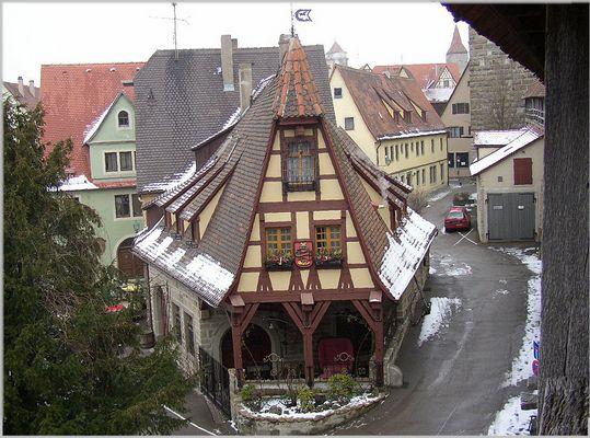 Ein kleines Haus in Rothenburg ....