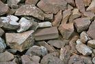 Ein komischer Stein im Schotterbett.