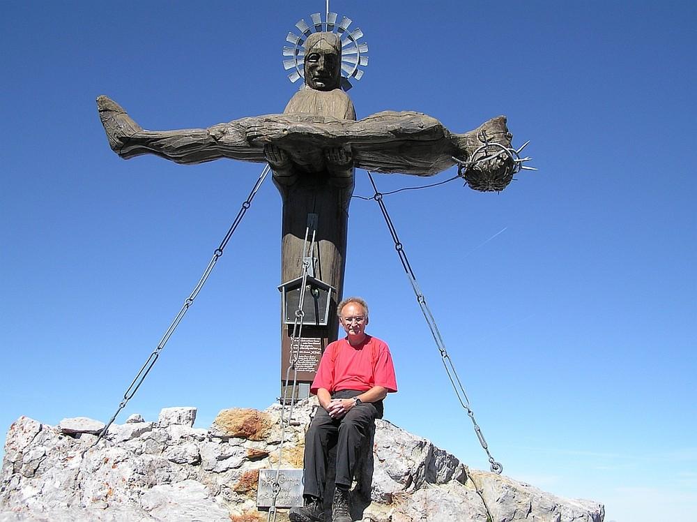 Ein Kunstwerk auf dem Gipfel