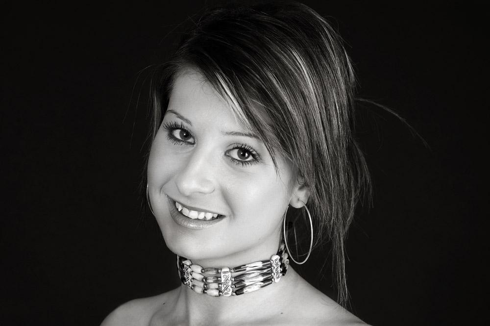 Ein Lächeln in schwarz-weiss...