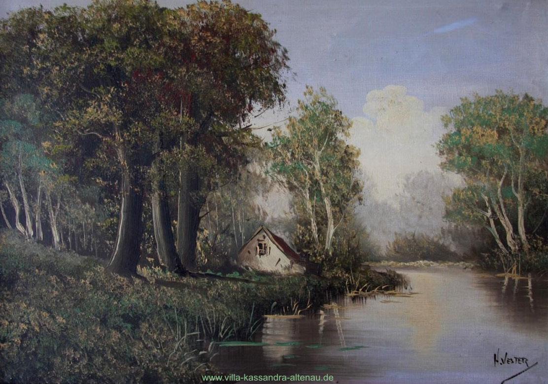 Ein Landschaftsbild von Heinrich Vester von ca. 1850