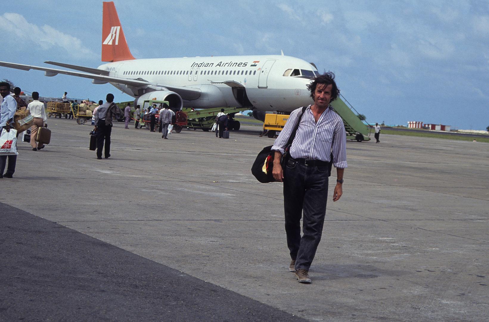 ein langer Rückflug beginnt ... (via Trivandrum, New Delhi)