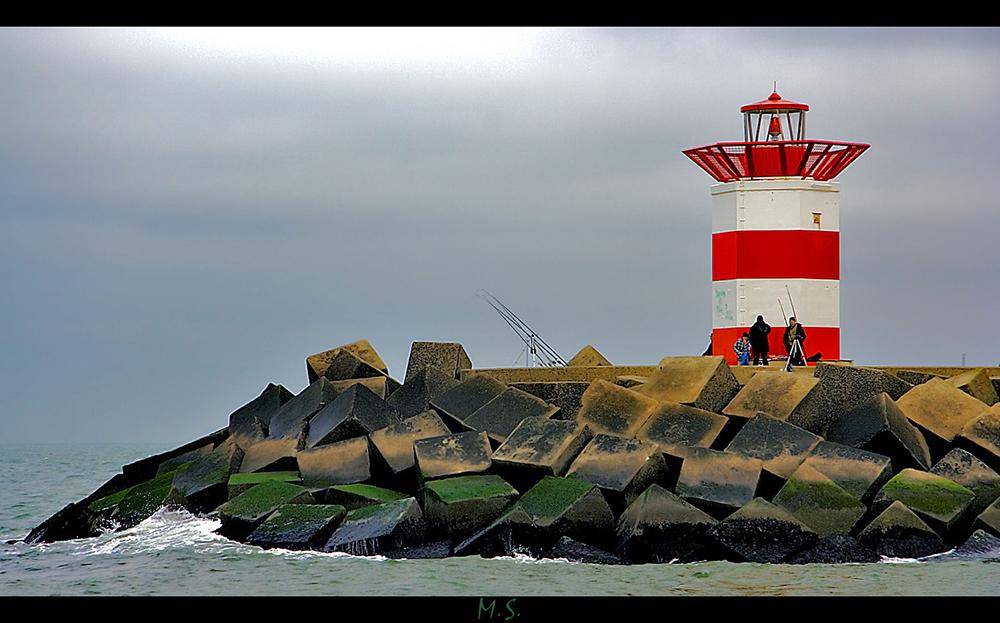 Ein Leuchturm in Scheveningen