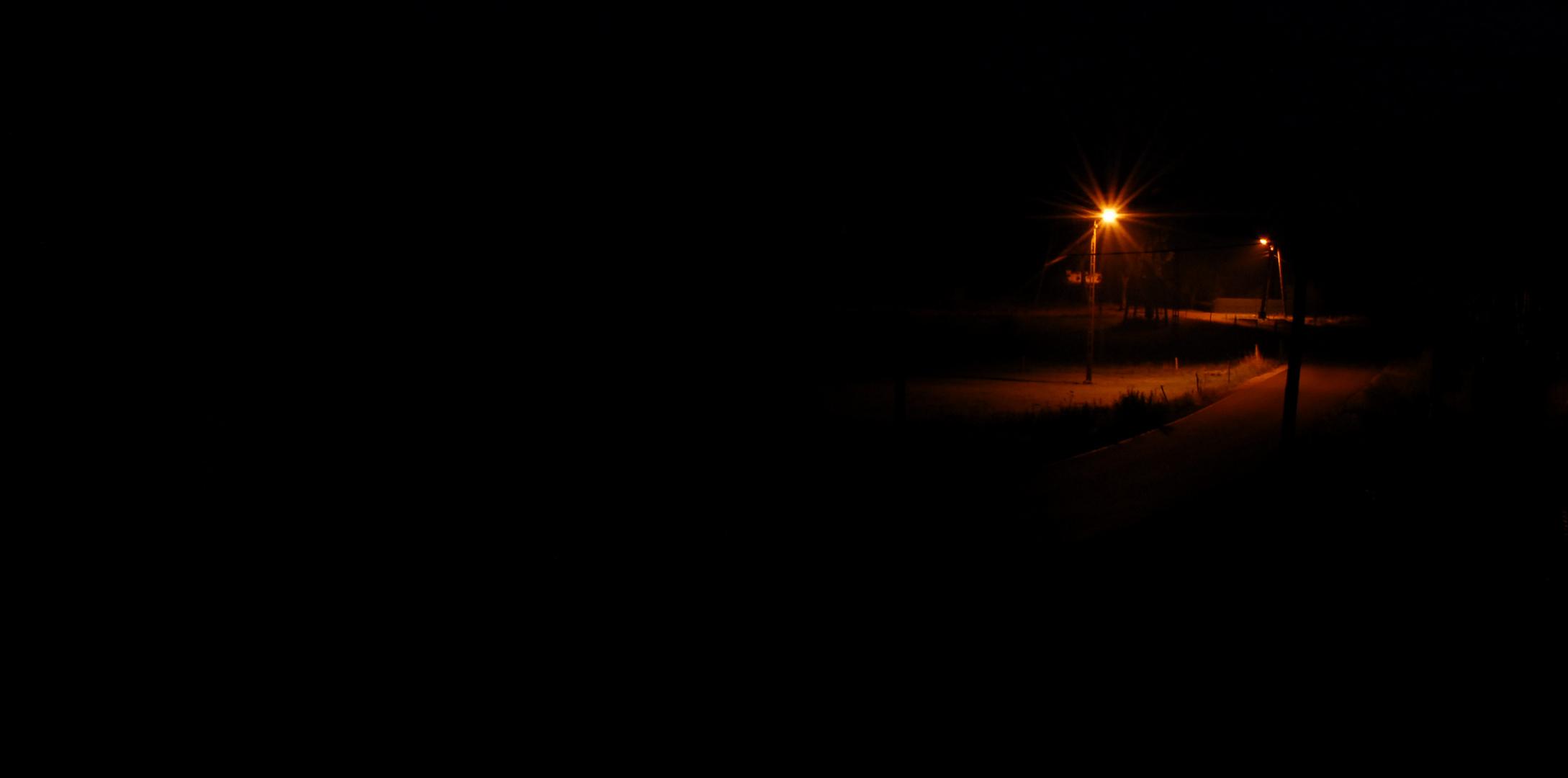 Ein Lichtlein in der Dunkelheit.