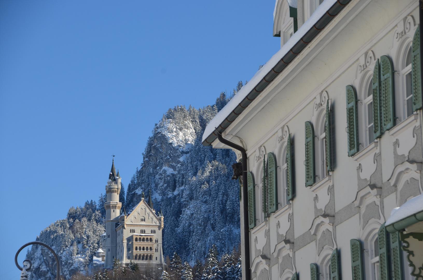 Ein Märchenschloss im Winter