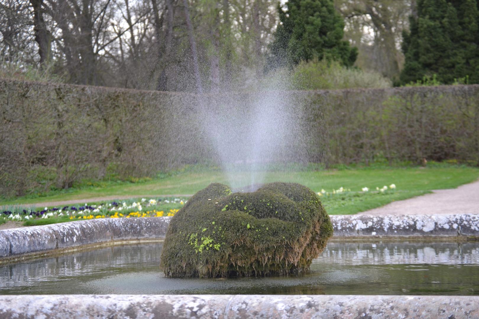 Ein Majestätischer Brunnen im Schloss Belvedere