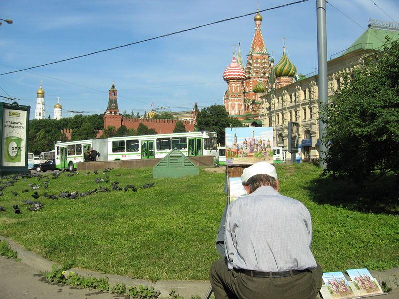Ein malerischer Blick auf den Roten Platz