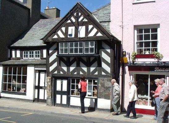 Ein mittelalterliches Haus. Beaumaris Anglesey.
