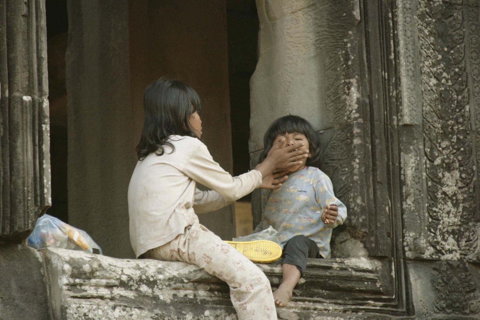 Ein Moment in Kambodscha