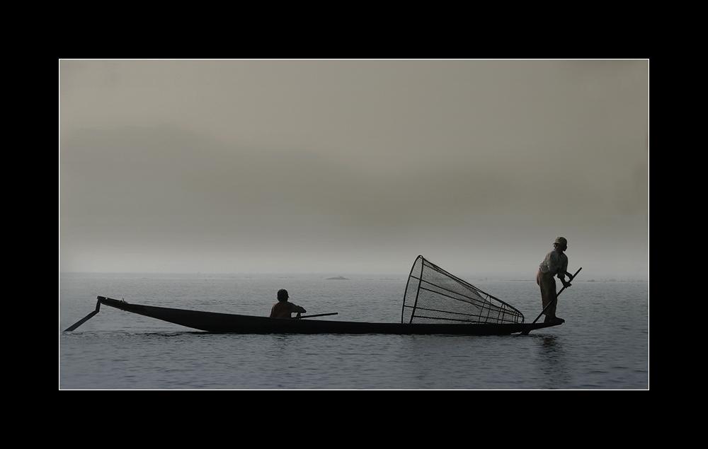 Ein Morgen am Inle See