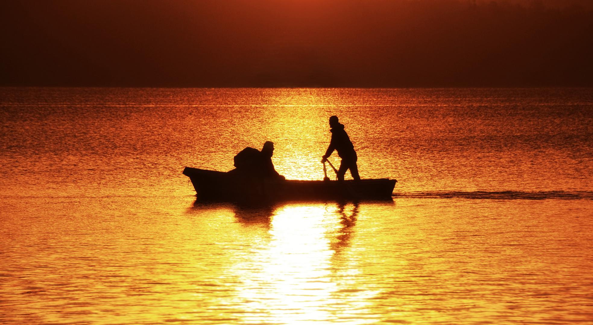 Ein Morgen auf dem See