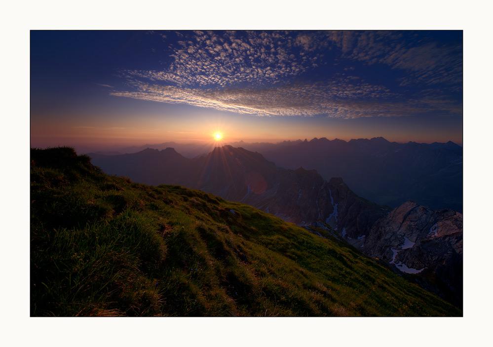 Ein Morgen in den Bergen