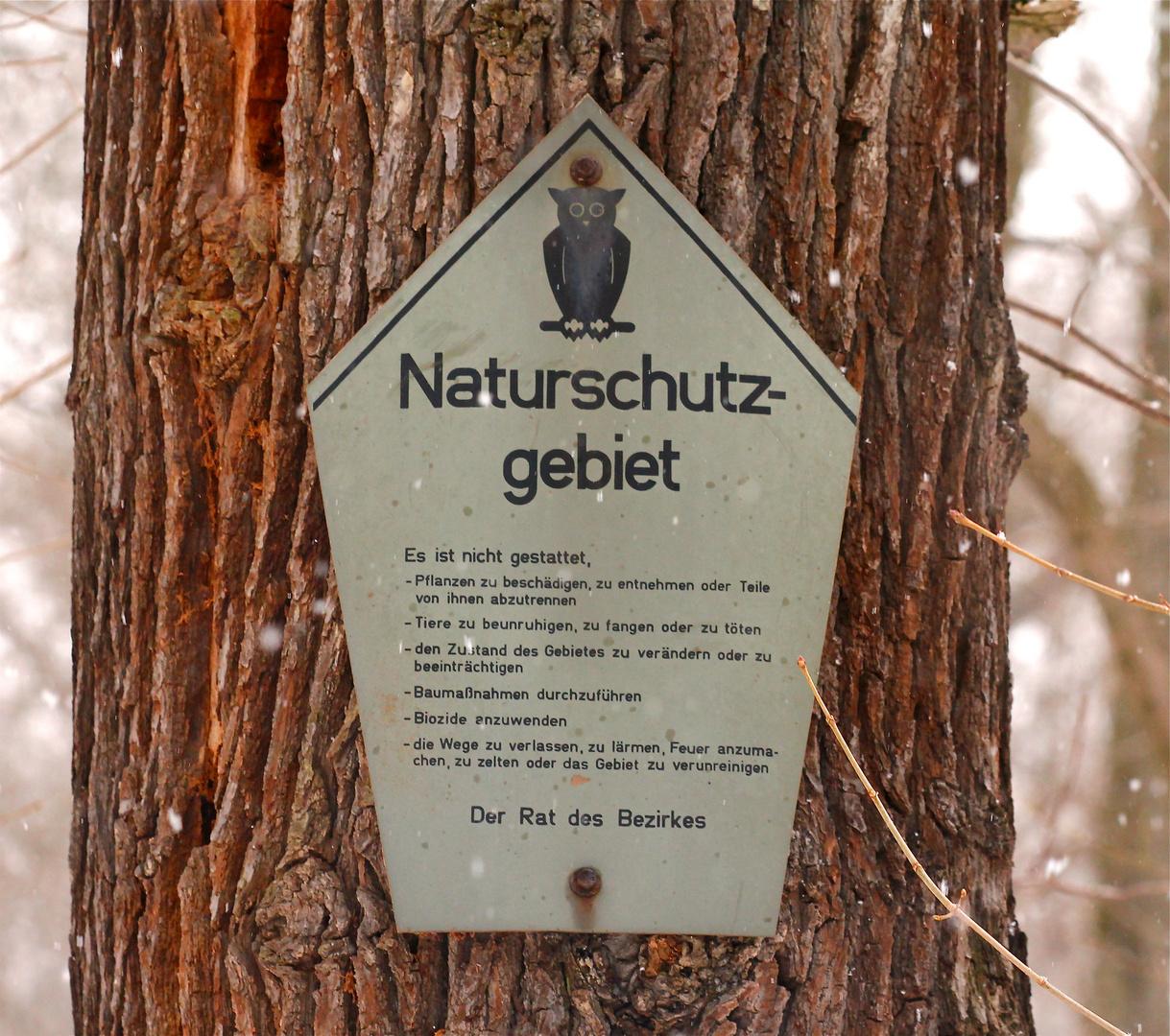Ein Naturschutzgebiet aus der Vor-Wende-Zeit.