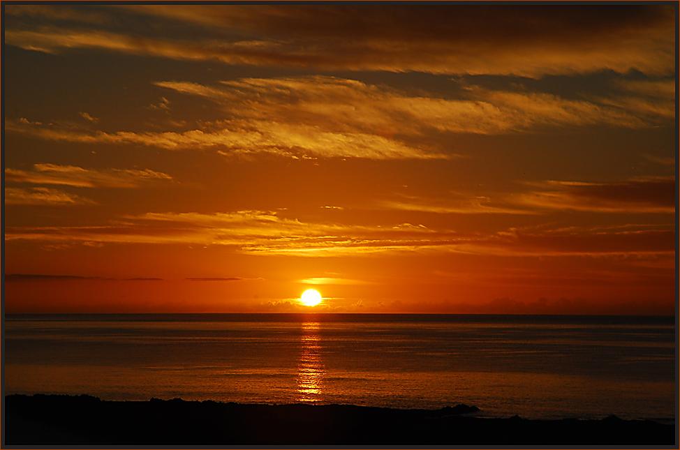 Ein neuer Tag begrüsst die Sonne...