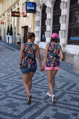 Ein Paar in Prag
