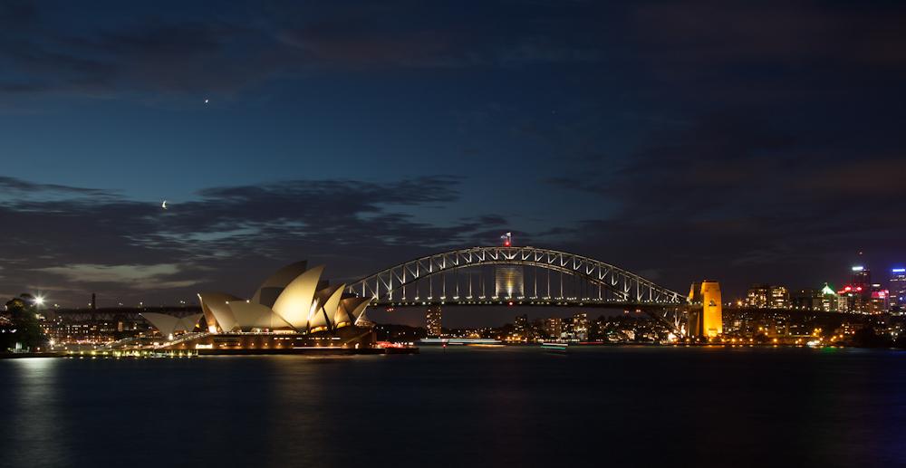 ein Panorama aus Sydney Oper und Harbour Bridge