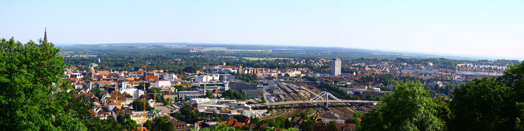 Ein Panorama von Ulm