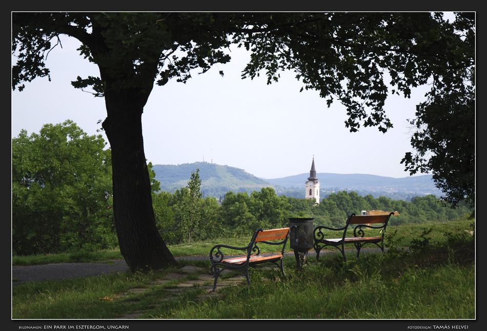 Ein Park im Esztergom, Ungarn