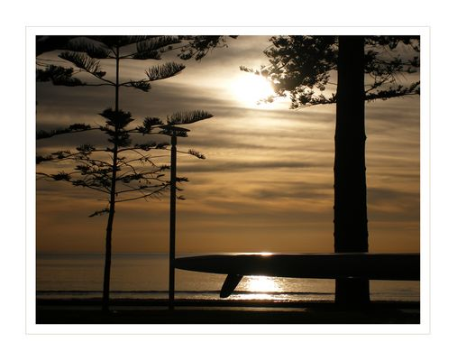Ein perfekter Sonntag Morgen am Strand von Manly (Sydney)