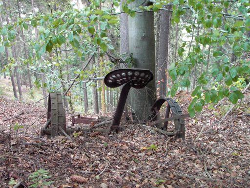 Ein Pflug wird wieder Teil der Natur