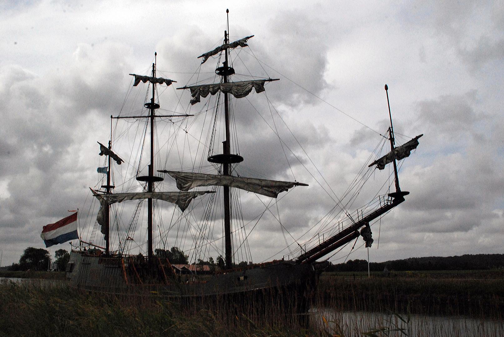 Ein Piratenschiff auf großer Reise