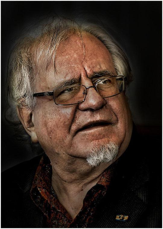 Ein Porträt des Manns in dem flandrischen Stil