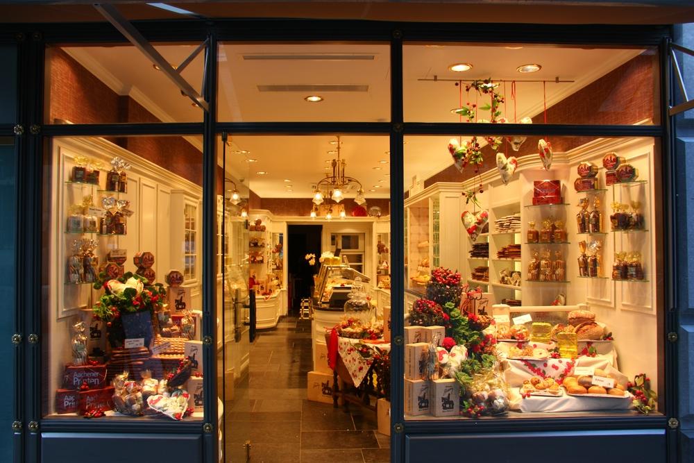 Ein Printengeschäft in Aachen