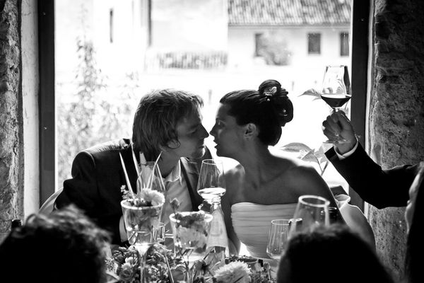 ein Prost auf das Brautpaar