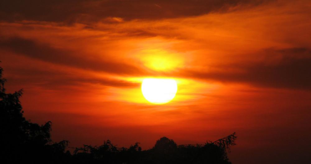 Ein recht netter Sonnenuntergang^^!