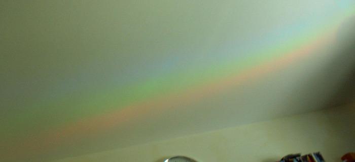Ein Regenbogen im Zimmer